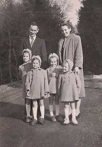 parents et les 4 filles